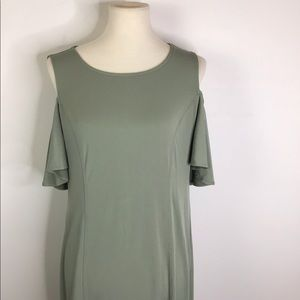 Kim Gravel Flirt Sleeve Cold Shoulder Dress